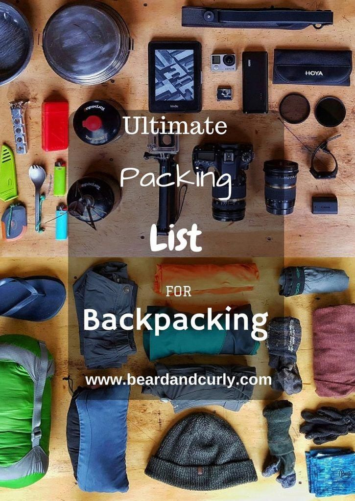 Hiking Backpacking Gear Checklist Beard And Curly Blog Backpacking Guide Hiking Trip Backpacking Tips