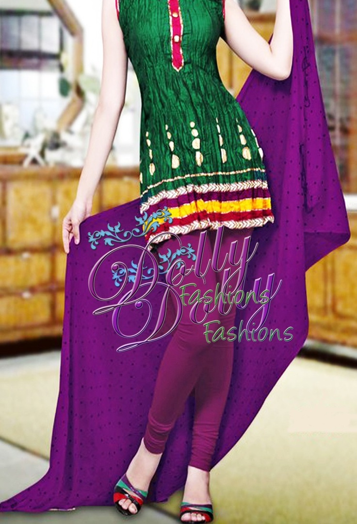 Purple Printed Chiffon Dupatta