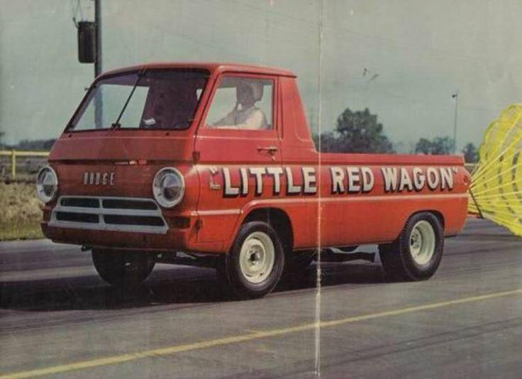 Wagon Racer Dodge Drag Red