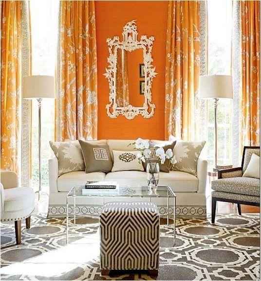 Living Room Orange Walls 118 best saffron & citrus decor images on pinterest | architecture