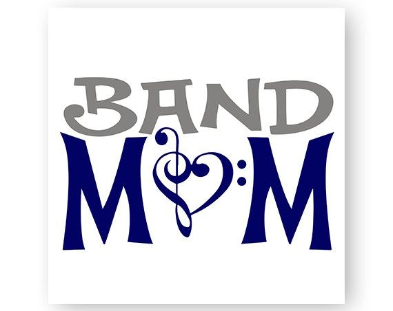 Band Mom Music Marching Band Music Note TShirt by HJYGraphicDesign