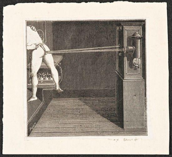 Max Ernst. Sans titre 1929. Collage