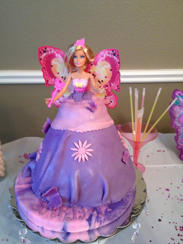Butterfly Barbie Cake Images : Sariah Barbie mariposa cake My cake creations ...