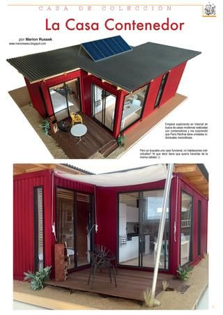 Miniature Container House  Dollhouse scale shipping container: tiny house, living on 35m2! I made this modell from scratch in 2015/2016. More info about my house model building on http://marionswiss.blogspot.ch/
