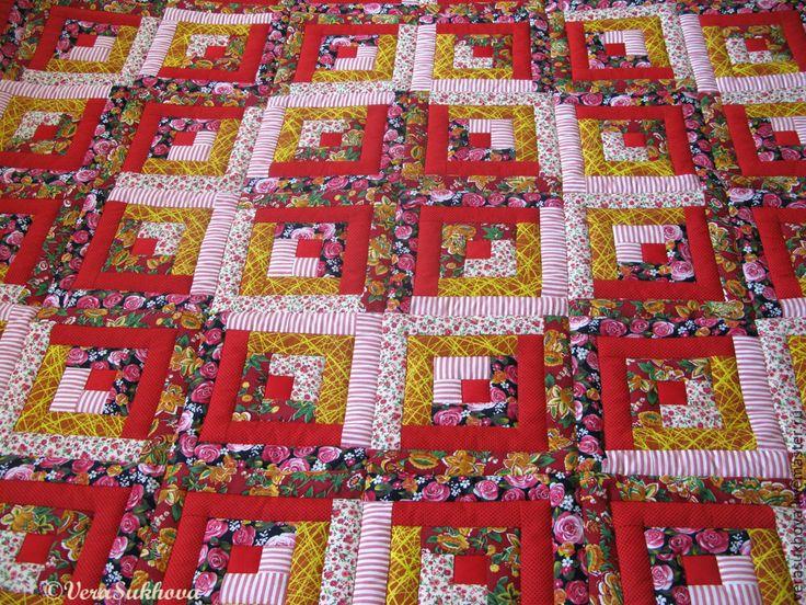 """Купить Лоскутное одеяло покрывало """"Красное"""" - красный, одеяло пэчворк, лоскутное шитье, лоскутное одеяло"""