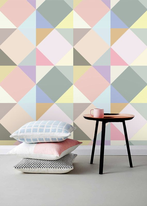 Self adhesive wallpaper , temporary wallpaper,removable wallpaper, geometric wallpaper , geometric pattern,peel and stick wallpaper 144