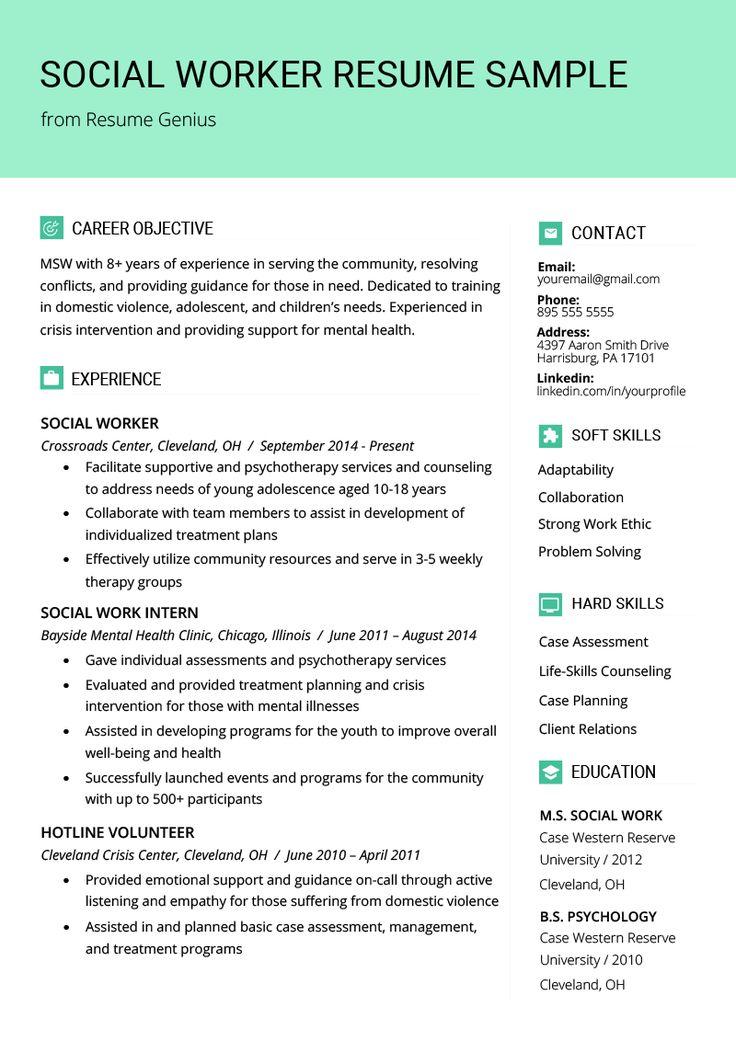 Social Work Resume Templates