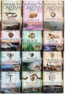 Winston Graham Poldark Series 12 Books Collection Set (Ross Poldark, Demelza, Jeremy Poldark, Warleggan, The Black Moon, The Four Swans, The Angry Tide, The Stranger From The Sea, The Millers Dance, Bella Poldark, The Twisted Sword, The Loving Cup)