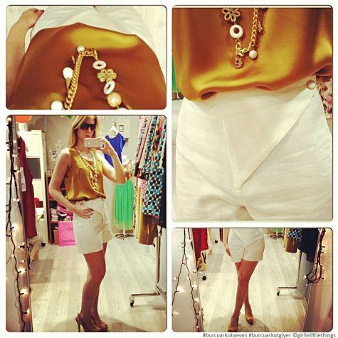 #ipek #silk #keten #şort #linen #shorts #suede #heels #necklace #burcuarkutwears #designroom