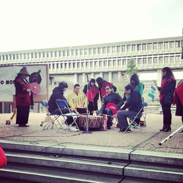 Photo by @jacquelinewachell of the Idle No More event at Burnaby campus. #instagram