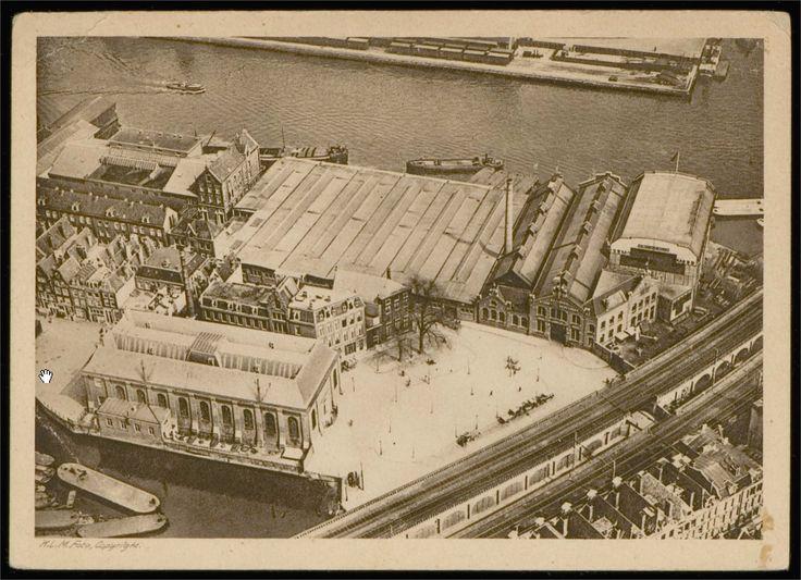 Amsterdam, het huidige 'Hendrik Jonkerplein'; toen nog 'Bickersplein' (ca 1920)