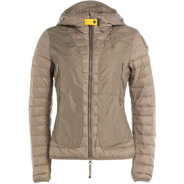 Parajumpers Quilted Down Jacket (13.765 RUB) ❤ liked on Polyvore featuring outerwear, jackets, green, parajumper jacket, brown jacket, parajumpers, quilted down jacket and green jacket