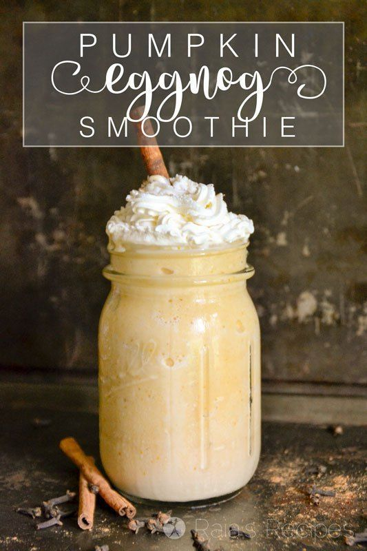 This Healthy Pumpkin Eggnog Smoothie a simple, yet nutritious drink that will be a real-food holiday pleaser for sure. RaiasRecipes.com