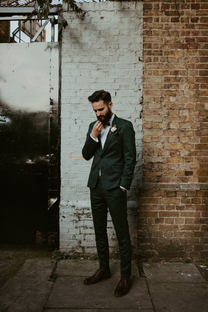 Dark green suit | Image by The Hendrys