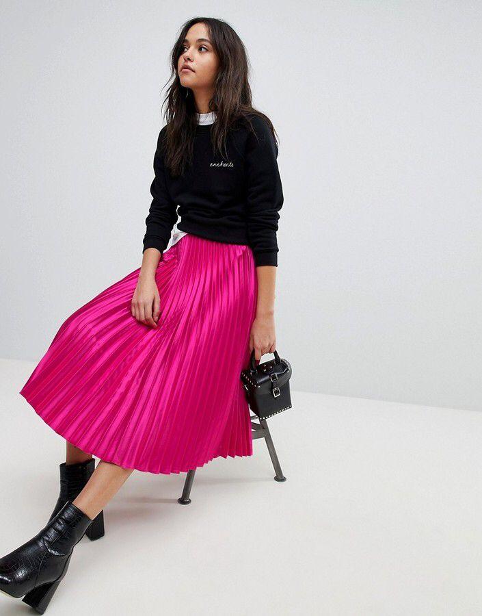 Y.A.S Pleated Midi Skirt