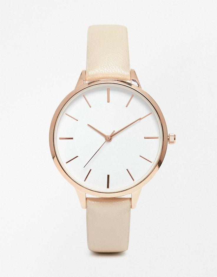 Image 1 of ASOS Minimal Sleek Rose Gold Watch