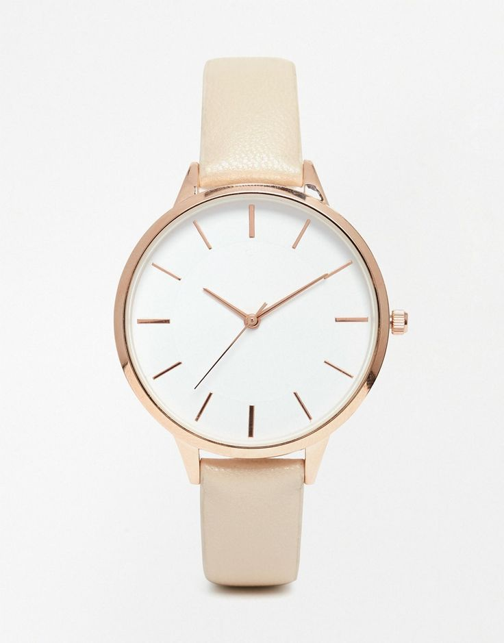 ASOS Minimal Sleek Rose Gold Watch