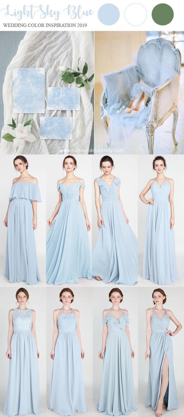 light sky blue wedding color ideas 2019 with bridesmaid dresses  wedding   weddinginspiration  bridesmaids  bridesmaiddress  bridalparty  maidofhonor  ... 4143b7caa
