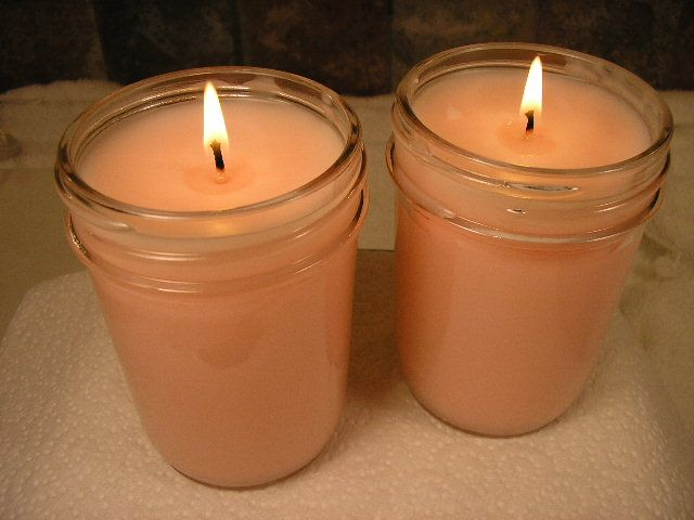Don't burn down the house! Choose safe candle containers.: Basic Container Candles in Jelly Jars
