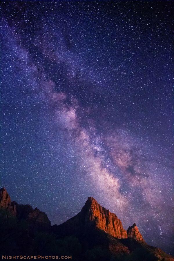 Milky Way stars over The Watchman, Zion National Park.    http://www.acmnp.com/employment/zion-national-park-jobs
