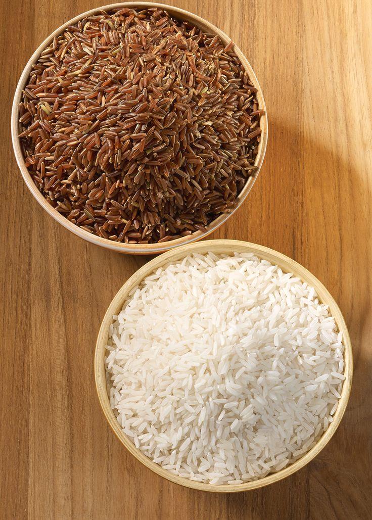 Riz et riz brun