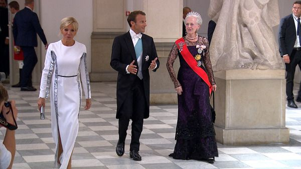The Danish Royal Family Host A Gala Banquet In Honor Of France S President Emmanuel Macron And Firs Princess Marie Of Denmark Danish Royal Family Danish Royals