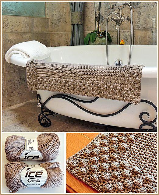 Ravelry: Pretty Puff Bathmat pattern by Stoneface Creations