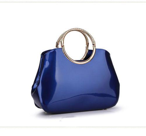 Women-Vintage-Patent-Leather-Bag-Ladies-Handbag-Clutch-Large-Tote-Bag