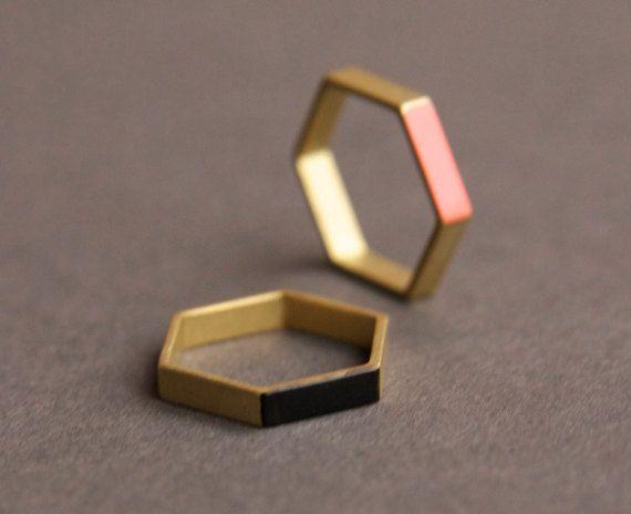 Hexagon ring.