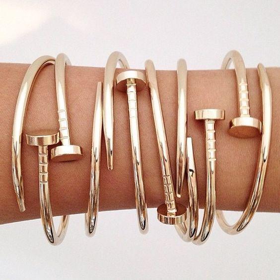 gold fashion bracelets in 14K