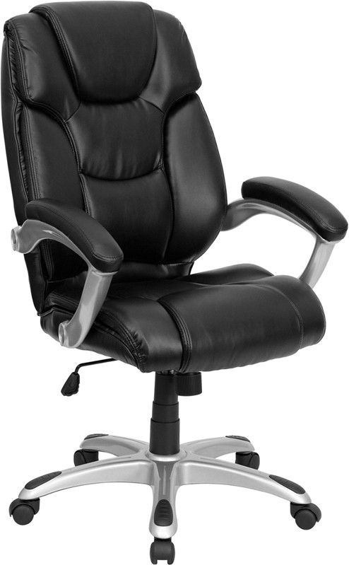 flash furniture high back black leather executive swivel office chair - Drehsthle Fr Wohnzimmer Zeitgenssisch