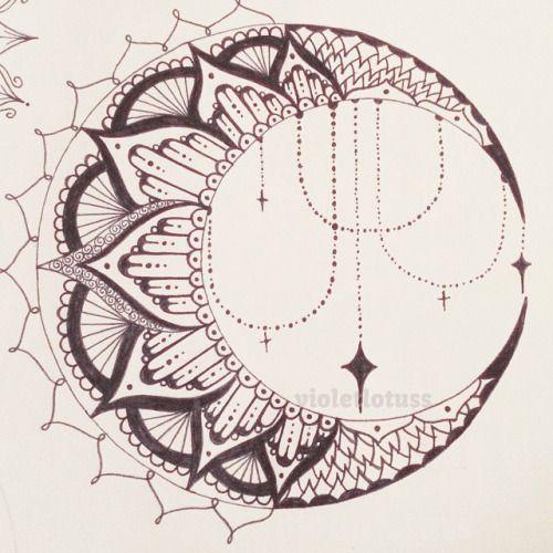 Pin By Marielle Martizano On Mandala Mehndi Tattoo Luna