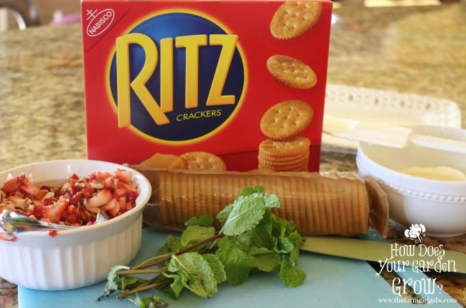RITZ® Strawberry Bruschetta Bites PutItOnARitz
