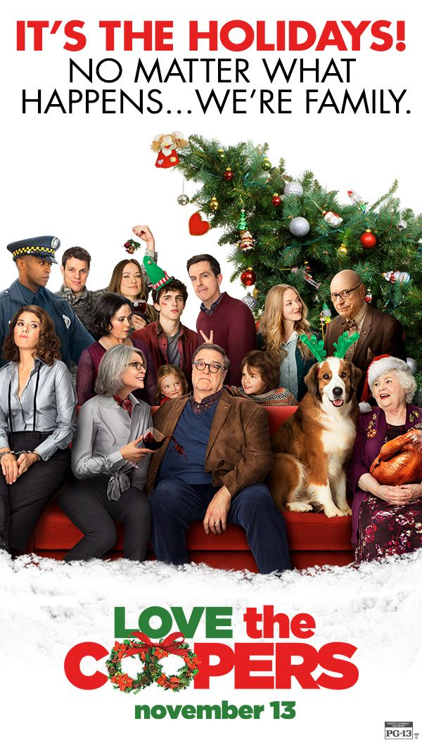 When the Coopers family comes together - everything comes apart. In Theaters Friday. Alan Arkin, Alex Borstein, John Goodman, Ed Helms, Diane Keaton, Jake Lacy, Anthony Mackie, Amanda Seyfried, June Squibb, Marisa Tomei, Olivia Wilde.