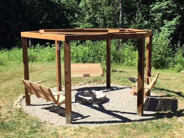 We Built A Fire Pit Gazebo Swingset