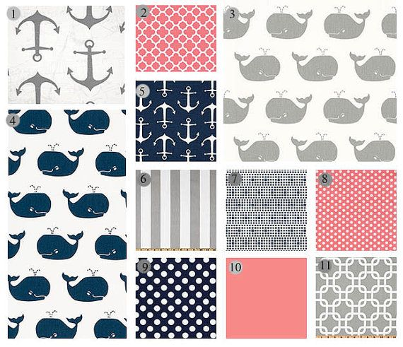 This listing is for a custom bedding set from Giggle Six Baby. Choose your fabrics from any of the listings in my shop to create your very own unique custom bedding. You can completely customize this listing! If you dont love all the fabrics and you would like to switch something out - please let me know and I will adjust it for you!  PLEASE NOTE - fabrics 1, 5 and 11 are not suitable for sheets   ****  Two Piece Set includes -  Crib Sheet Patchwork Blanket   Three piece set includes -  Crib…