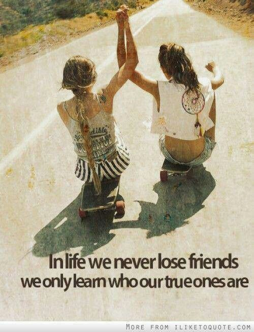 True friends...... Life lesson of this summer.. The cycle of friendships is so interesting .