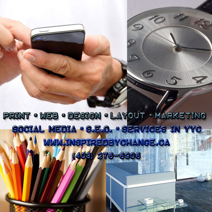 Design Services for Businesses in Calgary and Surrounding Areas. PRINT * WEB * DESIGN * LAYOUT * MARKETING * SOCIAL MEDIA * S.E.O. * SERVICES IN #YYC  WWW.INSPIREDBYCHANGE.CA  *Please no solicitors.