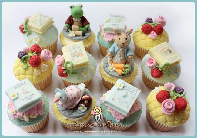 The most amazing Beatrix Potter cupcakes