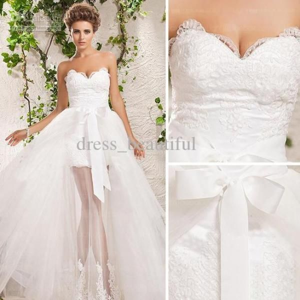 Wedding Dresses With Detatchable Trains Detachable