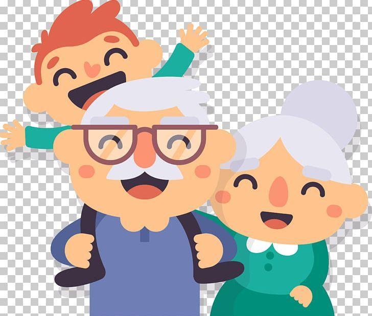 Grandparent Old Age Png Boy Cartoon Child Children Family Birthday Illustration Happy Birthday Illustration Sketch Free