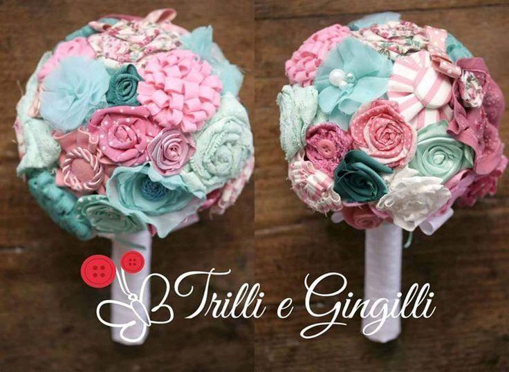 Bouquet di stoffa sferico