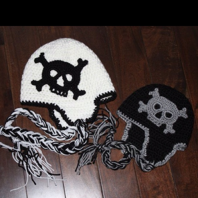17 Best images about crochet skull hats on Pinterest