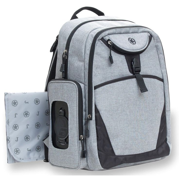 Jeep Everyday Backpack Diaper Bag - Grey Crosshatch.  Hey dads, what do you say?