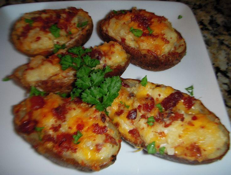 Loaded Potato Skins Recipe - FabFoodies