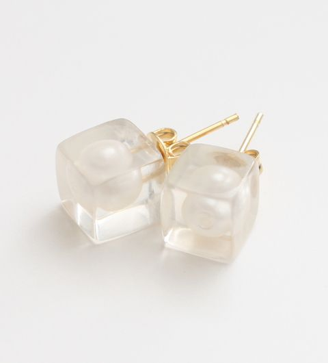 AMBIDEX Store / caph acrylic cube earrings