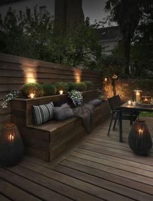 Terrasse premium en pin maritime et lumiére tamisée by ernestine