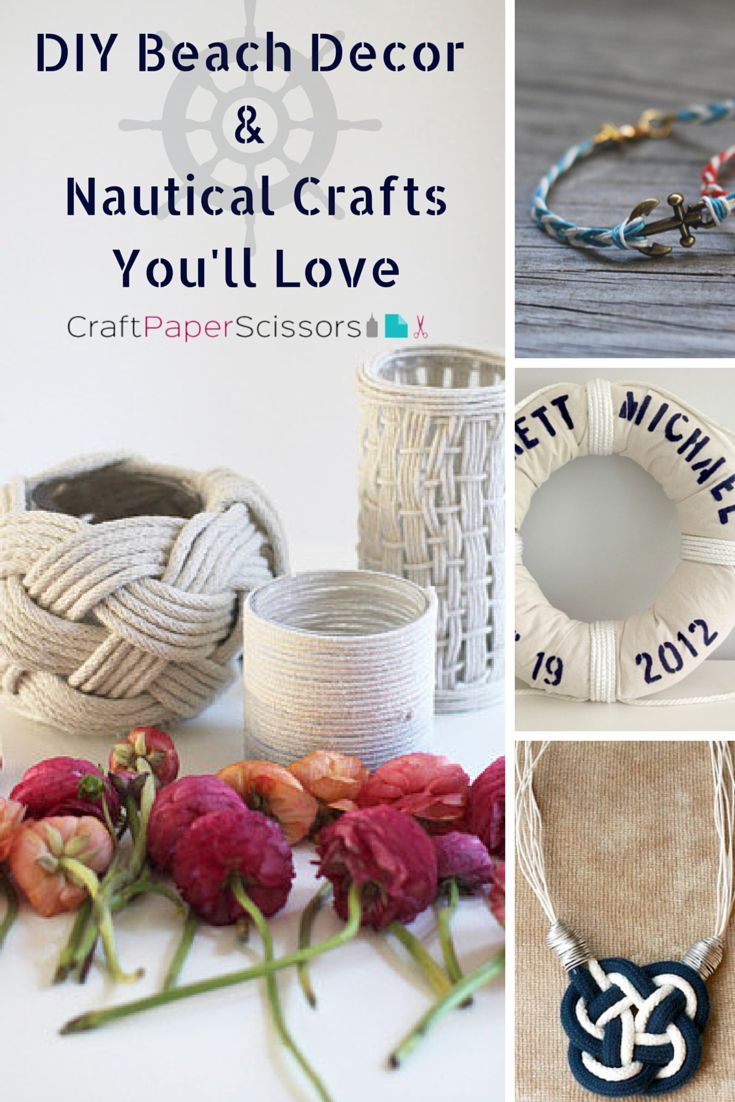 Nautical crafts to make - Diy Beach Decor Nautical Crafts You Ll Love
