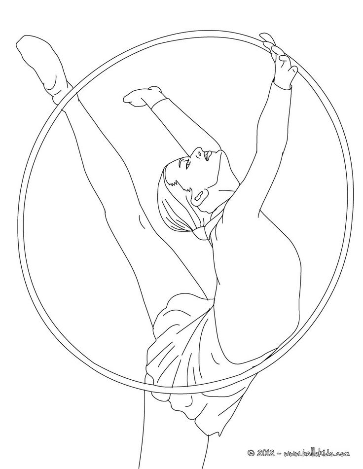 hoop individual all around rythmic gymnastics coloring page if you like challenging coloring pages try this hoop individual all around rythmic - Gymnastics Coloring Pages