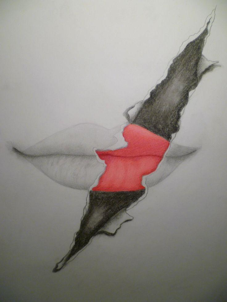 drawn lips